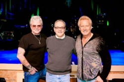 (From L-R): Air Supply's Russell Hitchcock, TED JOSEPH (President, Odds On Records), and Graham Russell, also of Air Supply