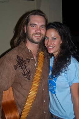 "Marthia Sides with American Idol Alum Bo Bice at the ""Country Cares"" Benefit held at Center Stage in Nashville on May 12."