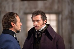 Russel Crowe and Hugh Jackman from LES MISERABLES