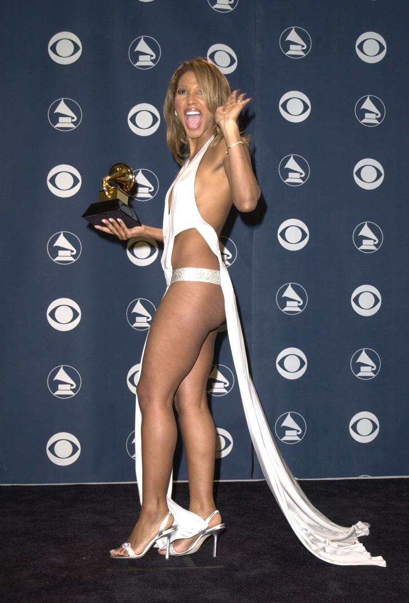 """Toni Braxton's 2001 Grammy is part of StyleList.com's slide show """"The Most Daring Grammy Fashions"""" on"""