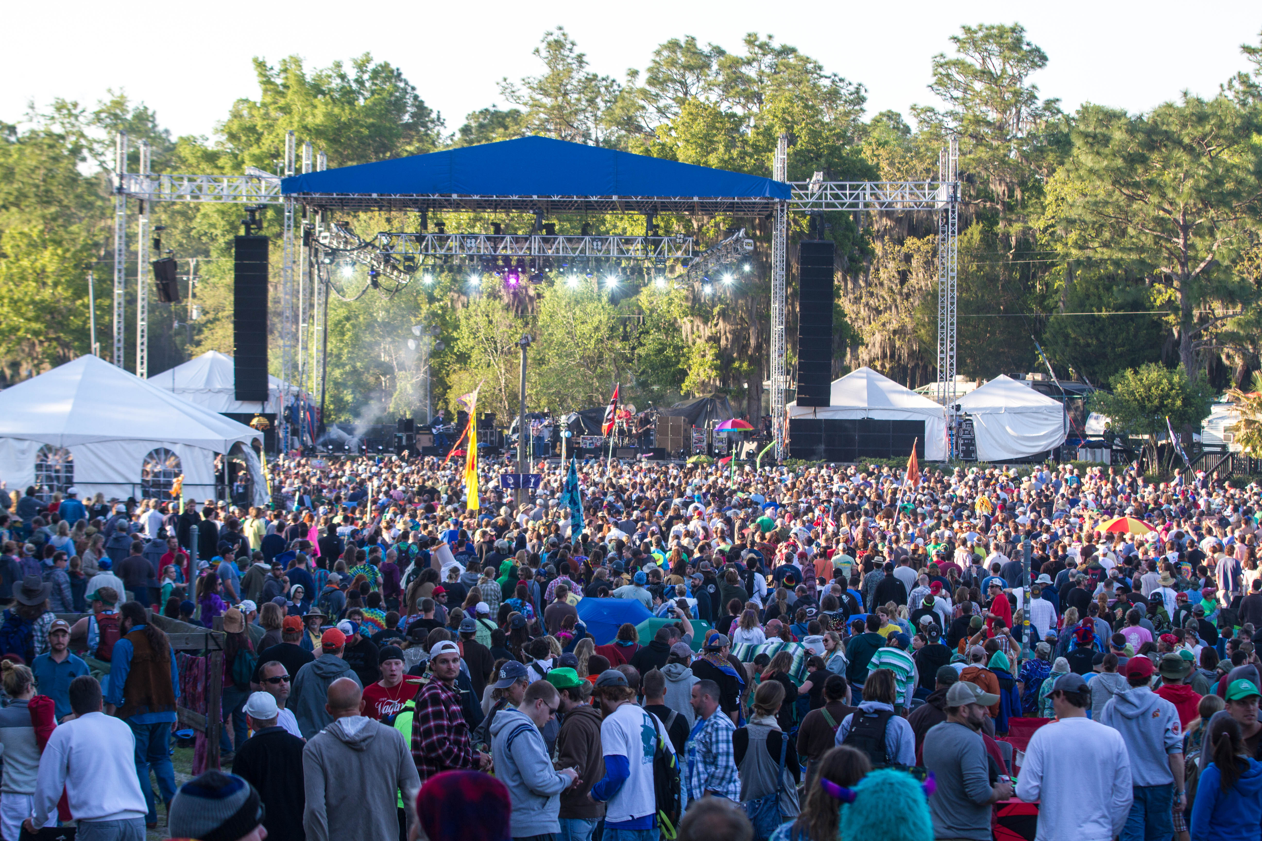 Thousands of fans gather for the Widespread Panic gig during the last day of Wanee 2013 April 20. Photo George Peavey.