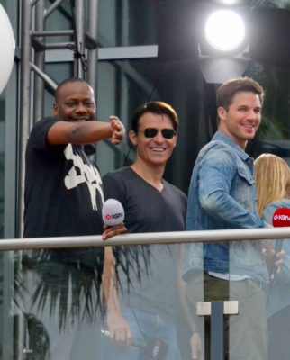 "Malcolm Barrett, Goran Visjnic,  and Matt Latner from ""Timeless"" at 2016 Comic Con in San Diego. Photo copyright S. Philips/CFM News"