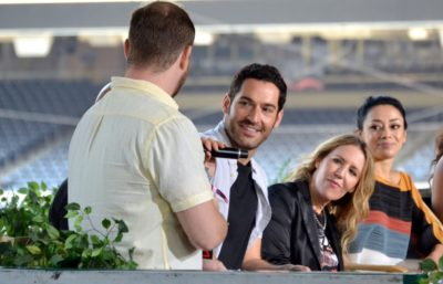 """Tom Ellis from """"Lucifer"""" at the 2016 San Diego Comic Con"""