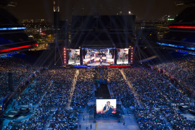 """""""What Now? was filmed outdoors in front of 50,000 people at Philadelphia's Lincoln Financial Field—marking the first time a comedian has ever performed to an at-capacity football stadium."""