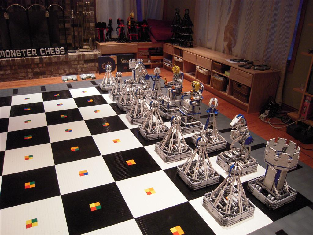 Lego Monster Chess, an incredible fully robotic chess board with a PC tablet interface.