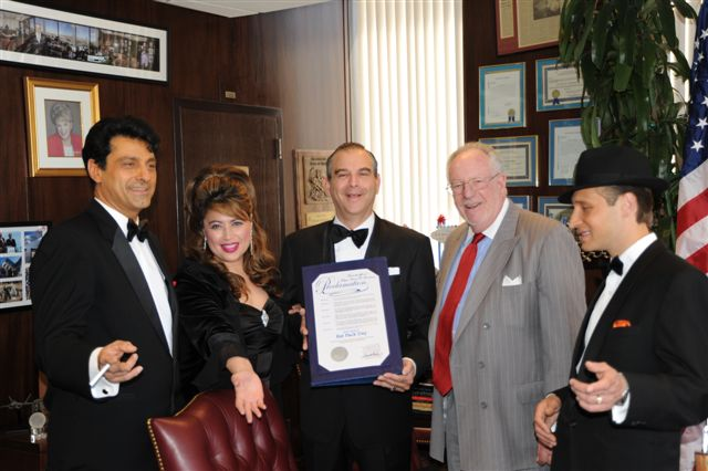 LAS VEGAS' MAYOR OSCAR B. GOODMAN PROCLAIMS MAY 26, 2010 'SANDY HACKETT'S RAT PACK DAY' AND EARNS TITLE OF HONORARY RAT PACK MEMBER