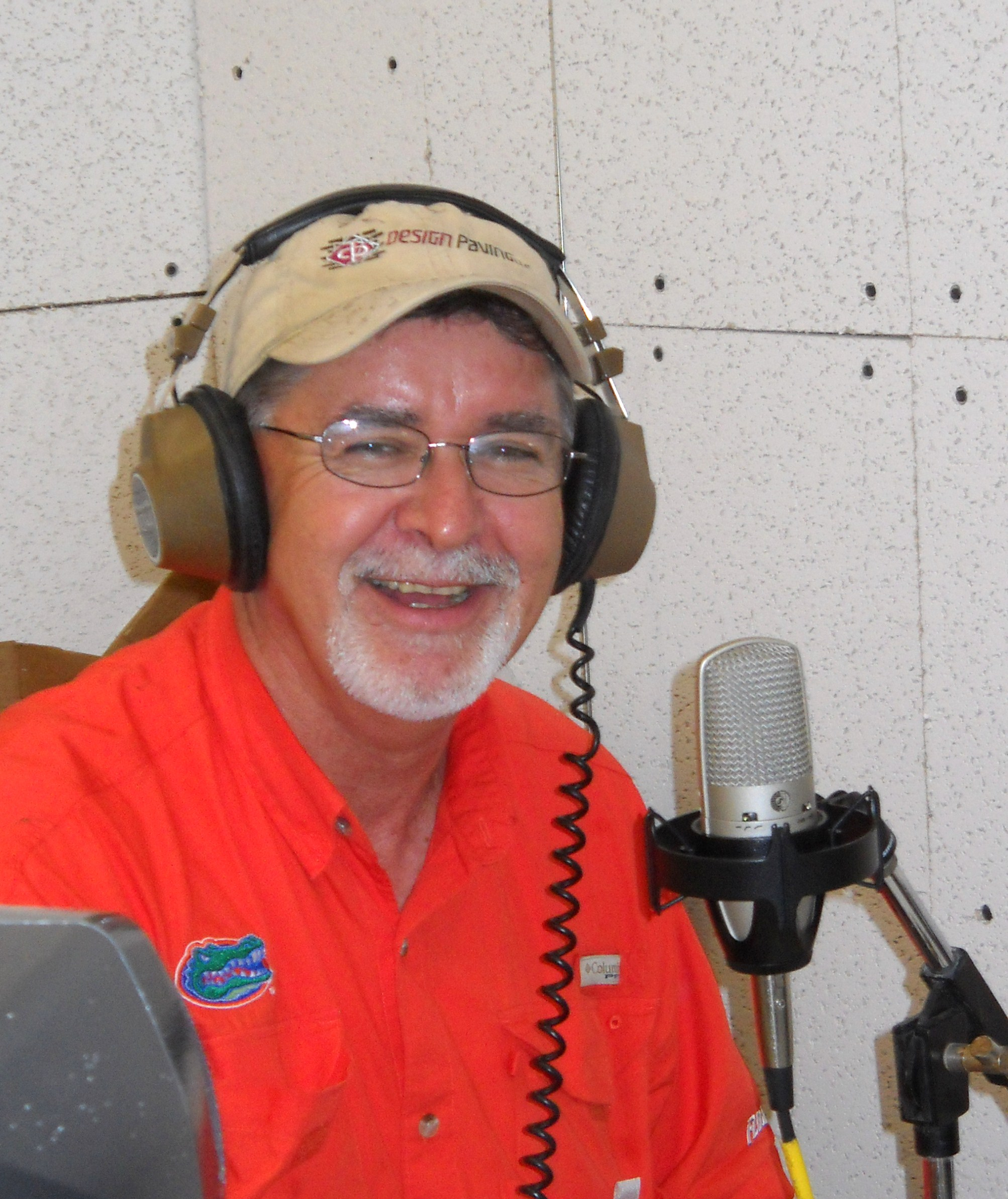 SOSMP Radio studio's first day on air Aug. 8, 2010 with bluegrass radio host Don Miller