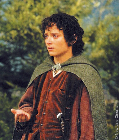 Elijah Wood as Frodo Baggins. Wood says that his role will be small but is very excited at having the chance to help link the LOTR and The Hobbit. The LOTR films have been a large part of his life.