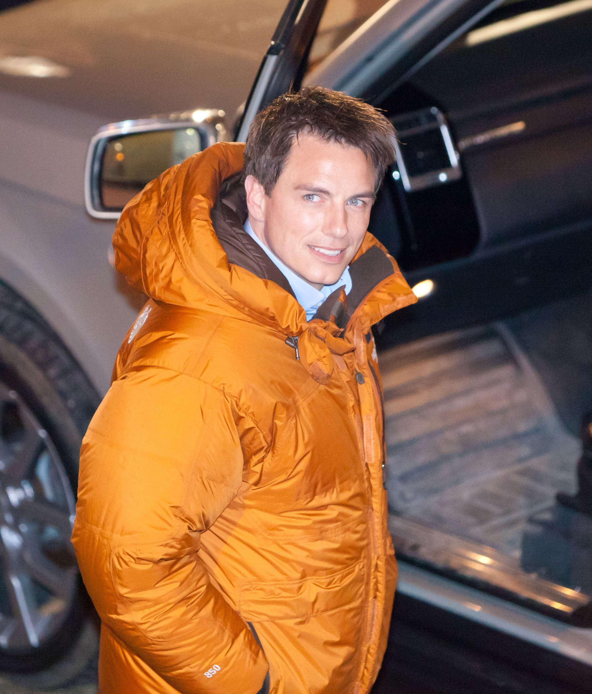 John Barrowman on the set of BBC science fiction drama 'Torchwood' Wales - 01.02.11 For the latest news join our mailing list. Photo Credit: Doug Williams/WENN.com