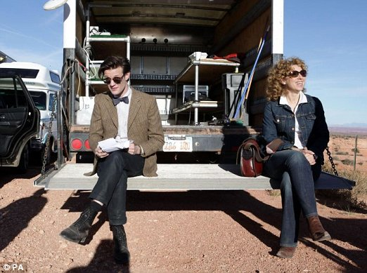 Alex Kingston loved slapping Matt Smith while filming the new series of 'Doctor Who'.