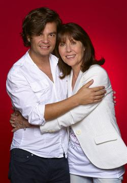 Edward Russel (Doctor Who, Torchwood, Sarah Jane Adventures) with Elisabeth Sladen (Doctor Who's Sarah Jane Parker).