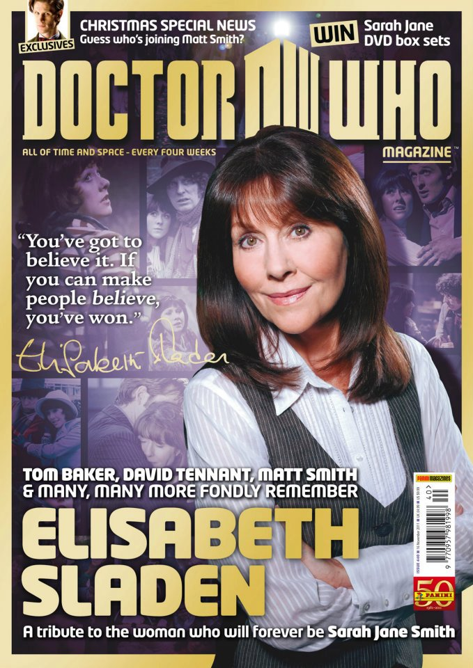 Elisabeth Sladen,Tom Baker,David Tennant,Matt Smith,Sarah Jane Smith,Elisabeth Sladen Tribute,Doctor Who Magazine