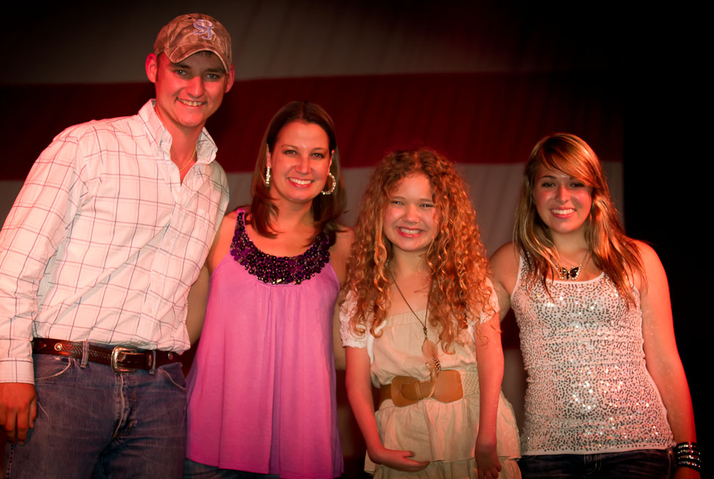 2012 Jam audition winners Clay Brooker, Lyndie Burris, Rion Paige and Stephanie Renae