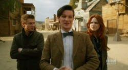 They know that look and it means trouble! Rory, The Doctor, Amy Season 7 trailer.