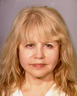 Pia Zadora mugshot. Zadora was arrested for domestic batter by Las Vegas police.
